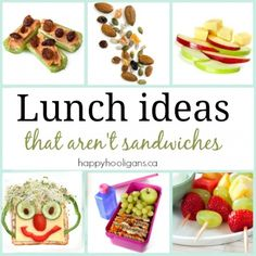 Lunch ideas that are not sandwiches - Happy Hooligans