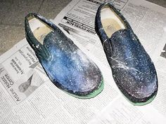 DIY Space/Galaxy/Cosmic Shoes Tutorial