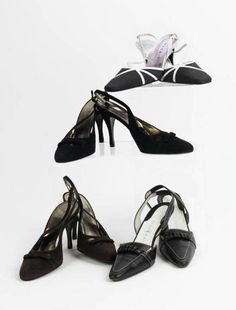FOUR PAIR SHOES  a small group of strappy stilettos, two pair by Dolce & Gabbana, one by Magrit, and one by Rene Mancini