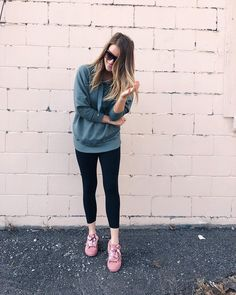 Hoodie outfit, blush sneakers Hoodie Outfit, My Outfit, Distressed Denim, Amanda, Casual Outfits, Black Jeans, Blush, Cozy, Hoodies
