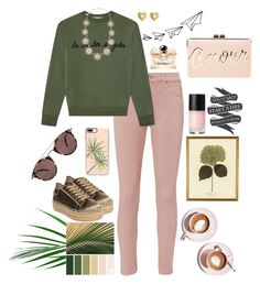 """La Vie Los Angeles"" by hchfashion on Polyvore featuring AG Adriano Goldschmied, Être Cécile, Kate Spade, Marc Jacobs, Steven by Steve Madden, Casetify, Oliver Peoples, Salvatore Ferragamo, Martha Stewart and BCBGMAXAZRIA"
