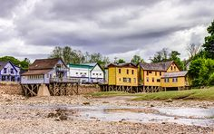 Low tide at Bear River First Nation community in Nova Scotia, Canada on Mallory on Travel adventure, adventure travel, photography Iain Mall...
