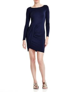 Three Dots Drape Front Dress - Find it on Donde Fashion