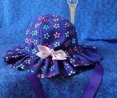 Purple Baby Sunhat by AdorableandCute on Etsy, $22.00