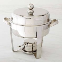 Williams-Sonoma Stainless-Steel Round Chafing Dish #williamssonoma