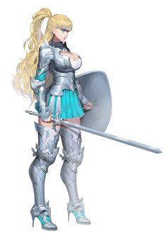 Galko is tired of school . Fantasy Female Warrior, Female Knight, Warrior Girl, Fantasy Armor, Fantasy Women, Fantasy Girl, Medieval Fantasy, Character Design Cartoon, Fantasy Character Design