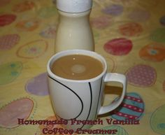 Homemade French Vanilla Coffee Creamer recipe.  Looking for healthier options. Make your own!  I changed recipe to fat-free sweetened condensed milk, two percent milk, and 2T pure vanilla extract.