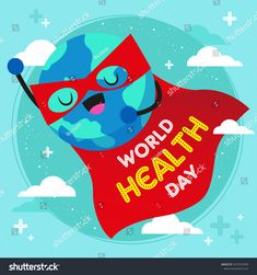 Illustration about World health day wallpaper flat design with super globe. great for poster or greeting card. Illustration of beautiful, global, celebration - 175372617 World Health Day, World Days, Flat Design, Globe, Royalty Free Stock Photos, Greeting Cards, Superhero, Wallpaper, Illustration