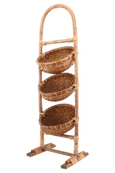 Woven Baskets : Basket 3 Tray Round