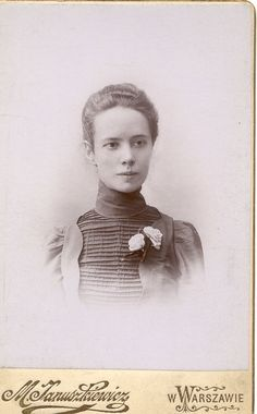 Unknown Polish lady. Photograph taken in Warsaw ca.1890