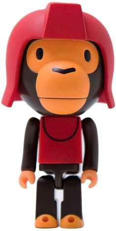 Red Baby Milo by BAPE (A Bathing Ape) and Medicom Toys