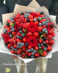 Fruit Flower Basket, Fruit Flowers, Vegetable Bouquet, Vegetable Basket, Flower Box Gift, Flower Boxes, Strawberry Fruit, Raspberry, Candy Theme Cake