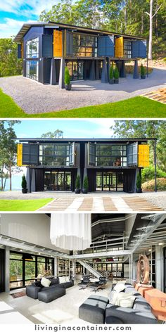 Sea Container Homes, Building A Container Home, Container House Design, Small House Design, Shipping Crate Homes, Shipping Container Homes, Shipping Containers, Steel Frame House, Granny Flat