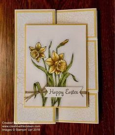 Fancy Fold Card - You're Inspiring, Stampin' Blends (Occasions '18)