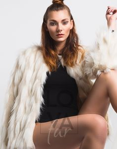Jacket Faux Fur Anna in Cream Swan. Faux Fur Jacket, Fur Coat, Anna, Vegan Fashion, Single Piece, Cream, Jackets, Creme Caramel, Down Jackets