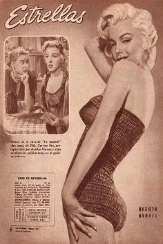 1956: Estrellas (Argentinian) magazine cover of Marilyn Monroe .... #normajeane #vintagemagazine #pinup #iconic #raremagazine #magazinecover #hollywoodactress #monroe #marilyn #1950s