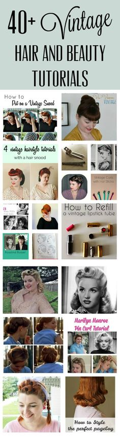 vintage hair and beauty tutorials