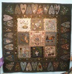 """Heart quilt shown in book """"Woolwork"""" de Yoko Saito"""