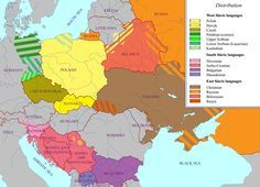 Slavonic languages. (#Rumanian is a latin language) / Les langues #slaves (le roumain est une langue latine.)
