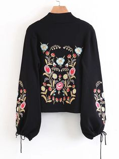 Shop Embroidery Drawstring Lantern Sleeve Sweater online. SheIn offers Embroidery Drawstring Lantern Sleeve Sweater & more to fit your fashionable needs.