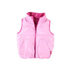 Bright Pink / Pink Packable Down Light Weight Puffer Vest