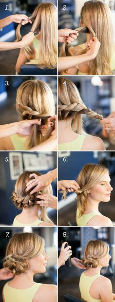 Low Twist Chignon Tutorial for the day when my hair is long again.