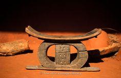 old royal stool, Yaa Asantewaa museum, Ejisu near Kumasi, Ghana