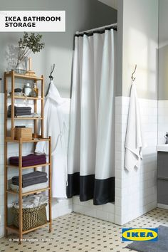 Get your bathroom organized in time for spring with IKEA bathroom storage! Find everything you need from extra shelf units to storage stools to cabinets that fit your style.