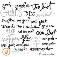 Hello Goals by Ali Edwards #craftthestory