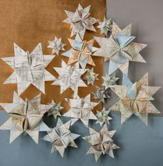 ✯ Wish Upon the Stars ✯ stars made from old maps
