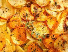 Η πρωτότυπη συνταγή της ημέρας- Πατάτες με σάλτσα από σκόρδο και μαϊντανό Thai Red Curry, Cauliflower, Shrimp, Food And Drink, Vegan, Chicken, Vegetables, Ethnic Recipes, Party