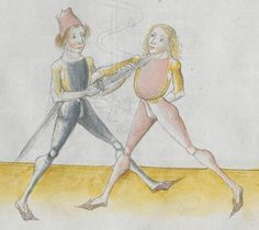 Lecküchner, Hans: Kunst des Messerfechtens Nordbayern, 1482 Cgm 582 Folio 313