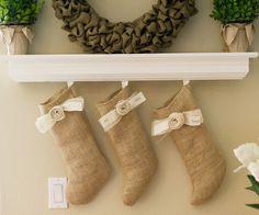 Burlap Custom Stockings. $15.00, via Etsy.