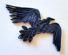 Quilled Raven #2 #quilling #raven #crow #black #corvid