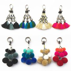 Paranda & Angor Danglers keychains All Colours
