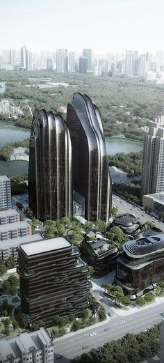 Chaoyang Park Plaza, Beijing, China by MAD Architects :: 28 floors, height 120m