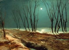 Paisaje invernal a la luz de la luna. Karl Eduard Ferdinand Blechen