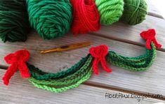 Evergreen Chain Garland - Fiber Flux...Adventures in Stitching