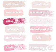 The Best Pink Paint Colors #pinhonest