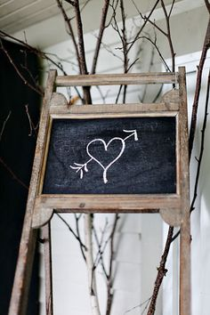Chalkboard Touches: Handwritten messages and chalkboard details are some of my favorite aspects of DIY wedding style.  Photos by Two Chicks Photography via StyleMePretty