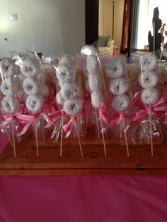 Donut kabobs for baby shower, birthday party, etc.