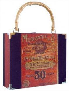 93016160d1 Decoupage Mercantile Cigar Box Purse