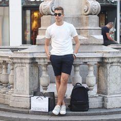Minimal Street Style For Men #men #fashion #shorts