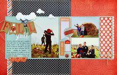 #papercraft #scrapbook #layout. *Fall Y'all* SCT Fall '13/BasicGrey PERSIMMON - Scrapbook.com