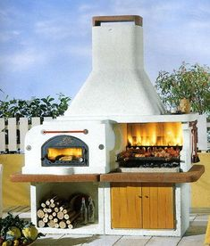 South of the border flair. - South of the border flair. Outdoor Bbq Kitchen, Outdoor Barbeque, Outdoor Stove, Pizza Oven Outdoor, Outdoor Kitchen Design, Outdoor Fire, Outdoor Cooking, Outdoor Rooms, Outdoor Living