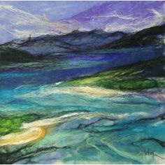 Luskentyre.... I am completely in love with Moy Mackay's work and style of felt & stitch!