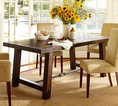 The perfect rustic looking dining table that provides a space for creative entertaining!