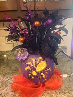 Halloween Spider Pumpkin with Bling