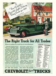 1945 Chevrolet Truck Ad