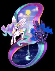 My Little Pony FiM Princess Luna and Celestia by RedRedTelephone, $8.00